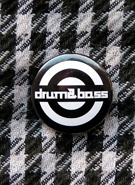Black drum and bass button