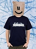 Drum and bass navy blue t-shirt
