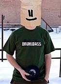 Drum and bass green t-shirt
