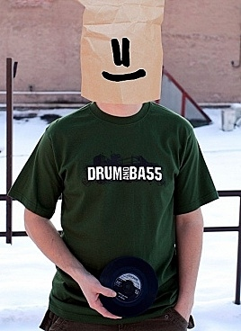 Drum and bass zelené tričko
