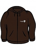 Drumky monkey brown zip hoody