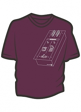 Mixer burgundy t-shirt