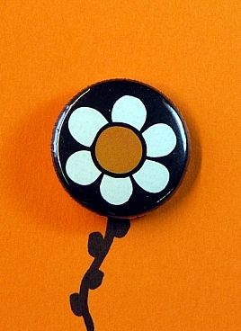 Orange flower button