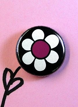 Pink flower button